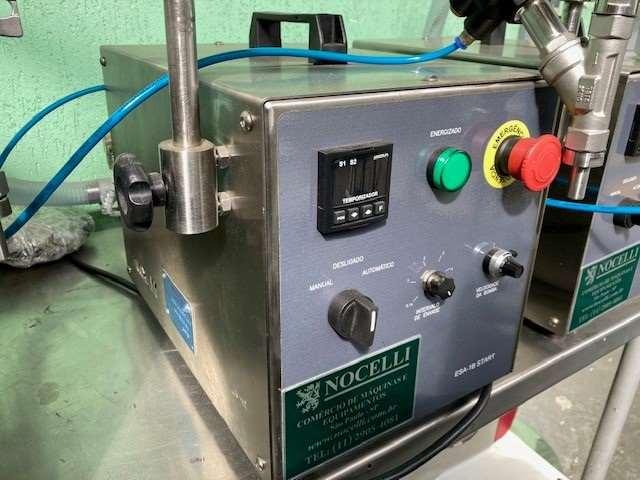 Envasadora 1 bico  semi aut a bomba p liquidos e cremosos